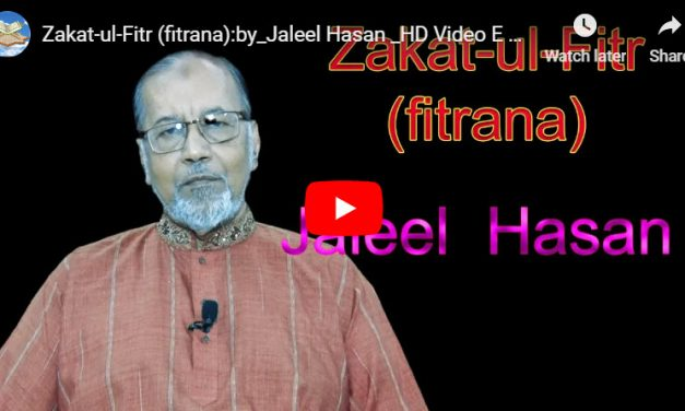Zakat-ul-Fitr (fitrana) :: by_Jaleel Hasan – English Lecture
