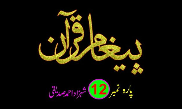 PAIGHAM E QURAN – PARA NO. 12 / پیغامِ قرآن پارہ نمبر 12 – شہزاد احمد صدیقی